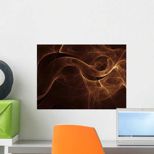 Abstract Gold Illustration Wall Decal Design 2