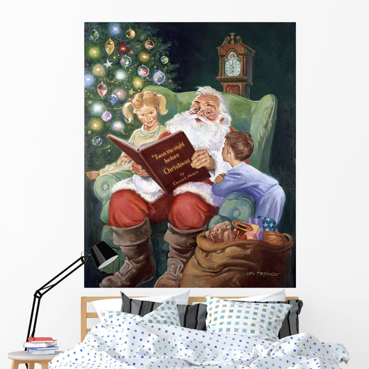 Twas The Night Before Christmas Wall Mural