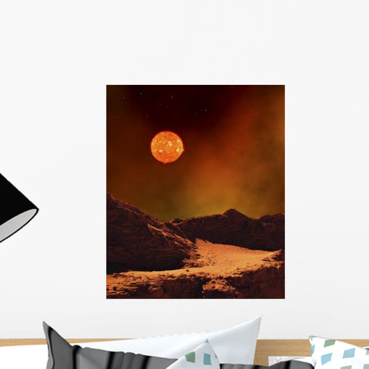 Rugged Planet Landscape Dimly Wall Decal