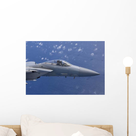F-15 Eagle Flies over Wall Decal Design 1