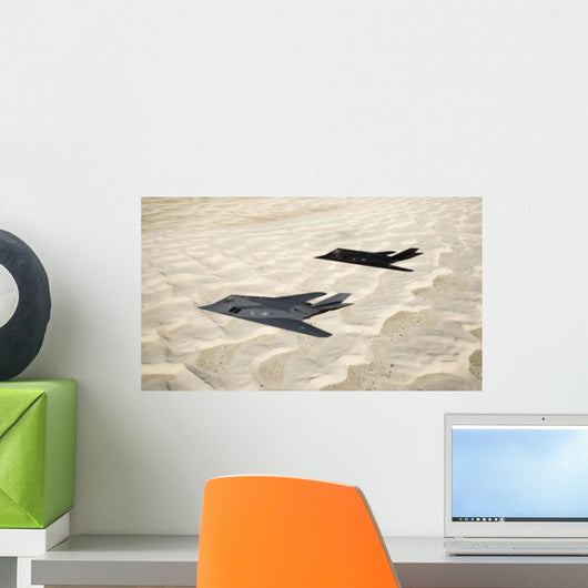 Two F-117 Nighthawk Stealth Wall Decal Design 2