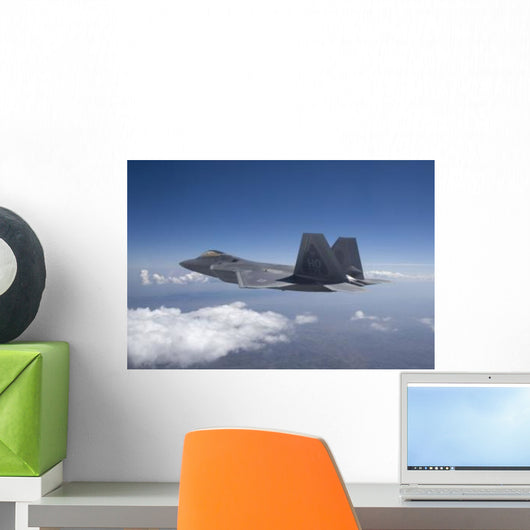 F-22 Raptor Flies around Wall Decal Design 2
