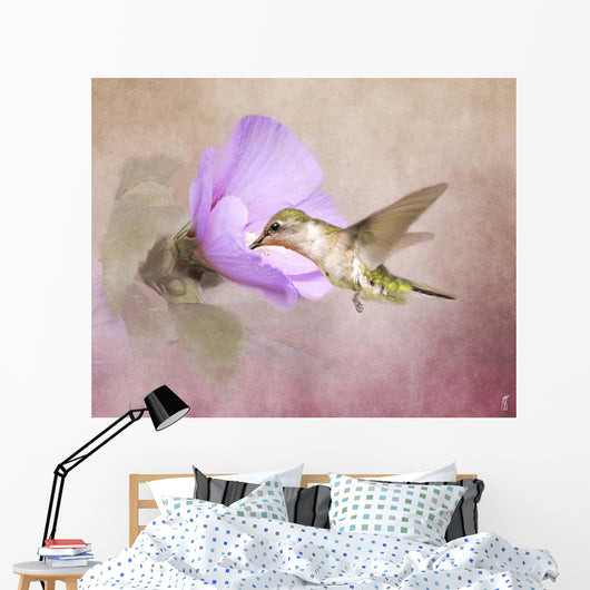 A Taste of Nectar Hummingbird Wall Mural