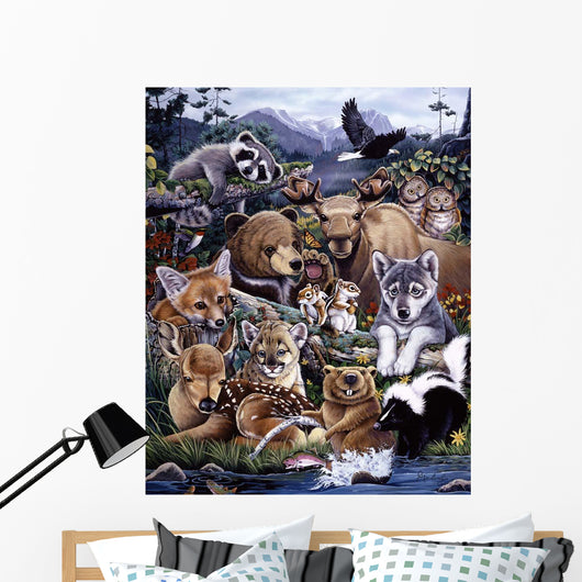 Forest Friends Wall Mural