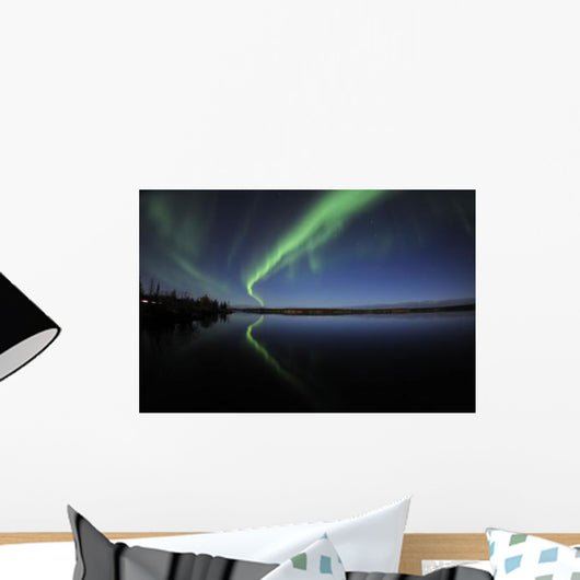 Aurora Borealis over Long Wall Decal Design 3