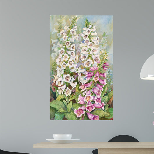 Foxglove Spears Wall Mural