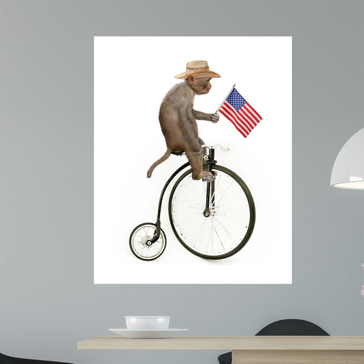 Monkeys Riding Bikes #3 Wall Mural