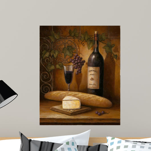 Wine And Cheese Wall Mural