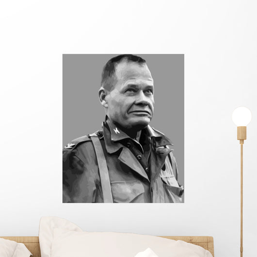 Vector Portrait Lieutenant General Wall Decal