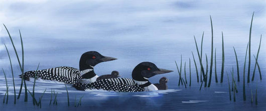 Family of Loons Wall Mural