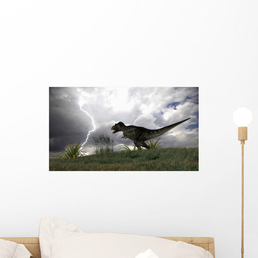 Tyrannosaurus Rex Hunting Open Wall Decal Design 2