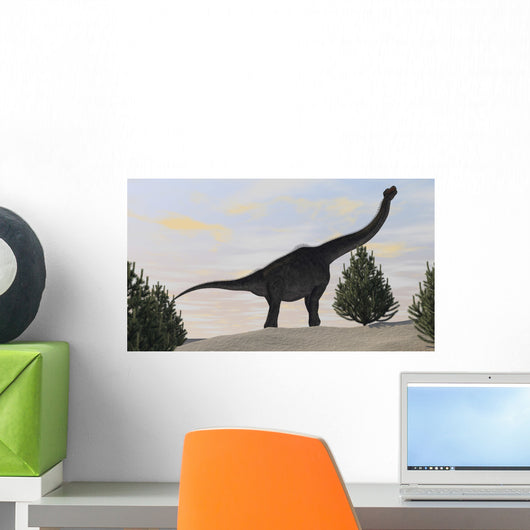 Large Brachiosaurus amongst Pine Wall Decal