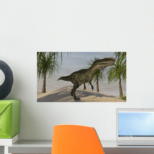 Monolophosaurus Tropical Environment Wall Decal Design 3