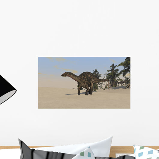 Dicraeosaurus Walking across Barren Wall Decal Design 2