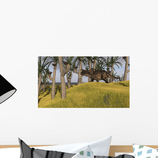 Einiosaurus Grassy Field Wall Decal