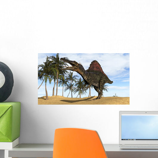 Spinosaurus Hunting Prehistoric Environment Wall Decal