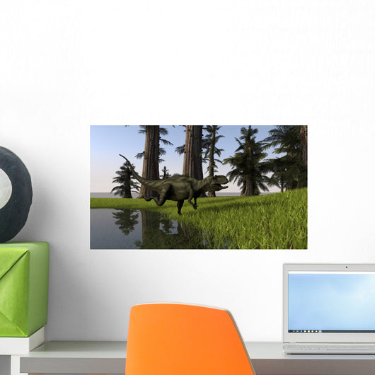 Yangchuanosaurus Running through Swamp Wall Decal