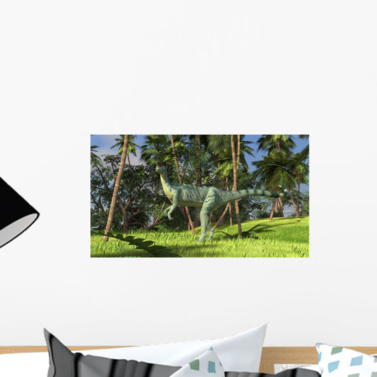 Dilophosaurus Hunting Prehistoric Environment Wall Decal Design 2