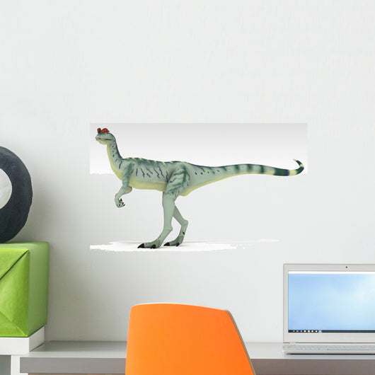 Dilophosaurus Dinosaur White Wall Decal Design 2