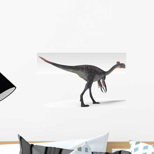 Gigantoraptor Dinosaur White Wall Decal Design 7