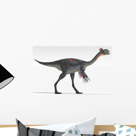 Gigantoraptor Dinosaur White Wall Decal Design 4