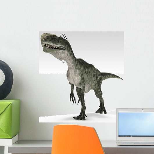 Monolophosaurus Dinosaur White Wall Decal Design 1
