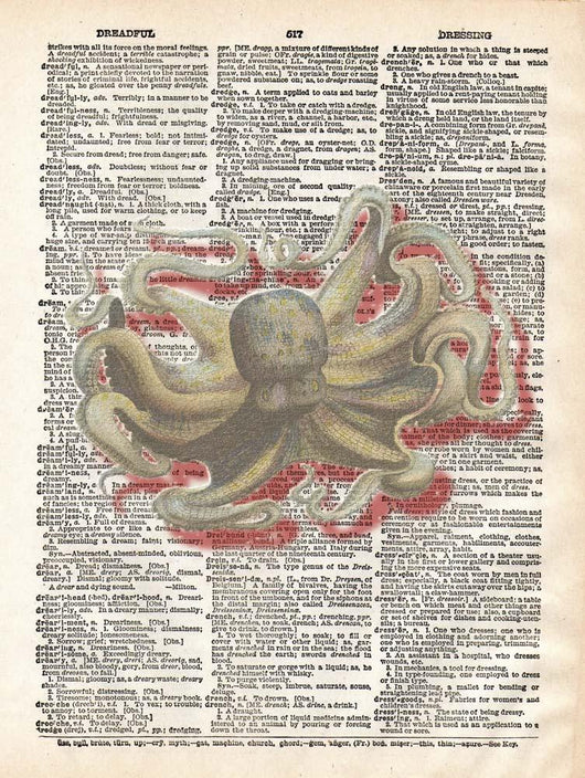 Dreadful Octopus III Wall Mural