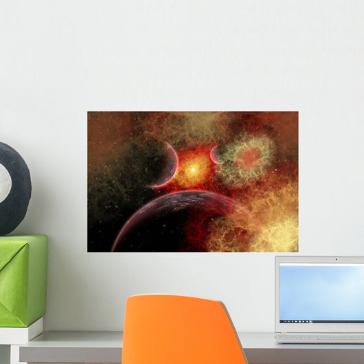 Artist' Concept Illustrating Stellar Wall Decal Design 2