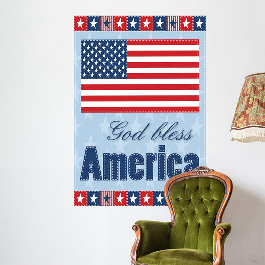 God Bless America Wall Mural