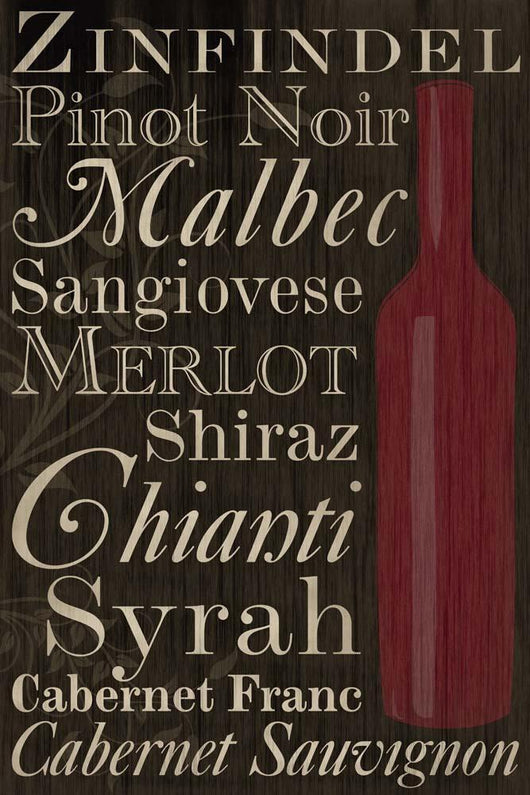 Red Red Wine Bottles Wall Mural