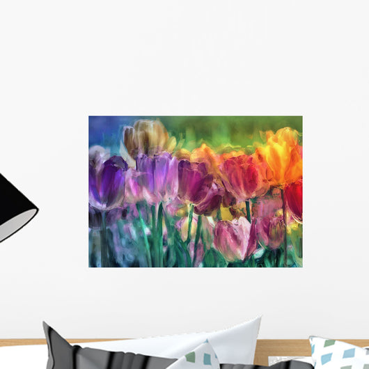 Tulip Farm Wall Mural