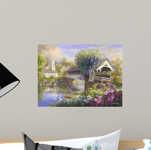 Picturesque Covered Bridge Wall Mural