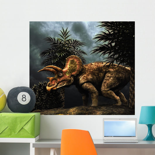 Triceratops Was Herbivorous Dinosaur Wall Decal