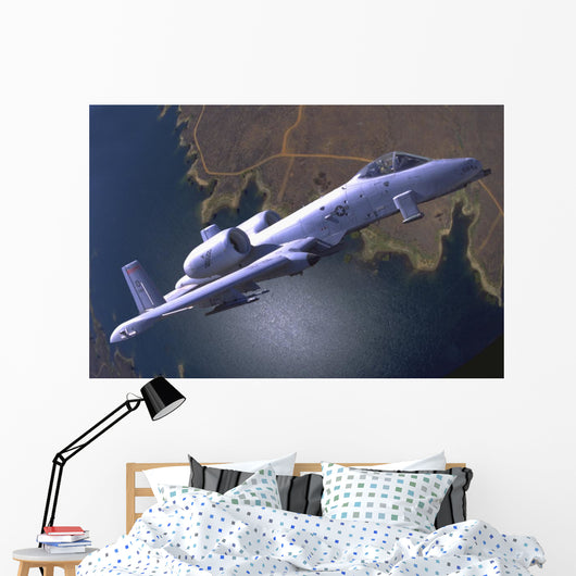 Us Air Force A-10 Over Ground Wall Decal