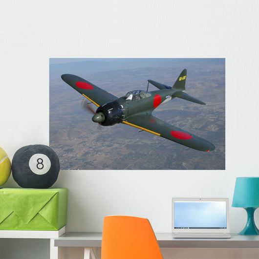 A6m Japanese Zero Flying Front Wall Decal