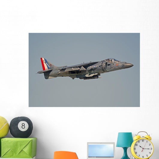 Av-8b Harrier Flying over Wall Decal