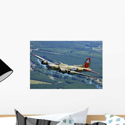 B-17 Flying Fortress Flying Wall Decal