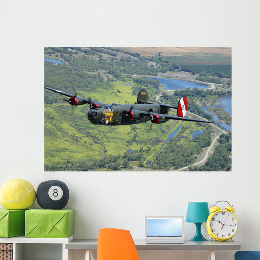 B-24 Liberator Flying over Wall Decal