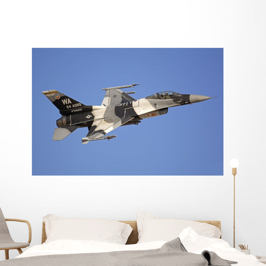 F-16c Fighting Falcon Flying Wall Decal