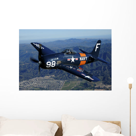 F8f Bearcat Flying over Wall Decal