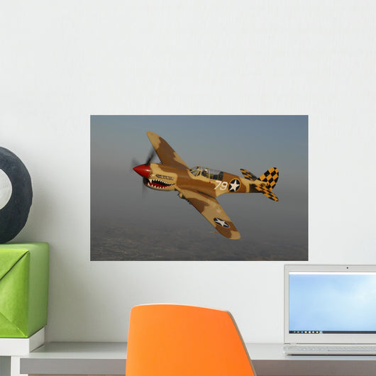 P-40 Warhawk Flying Wall Decal