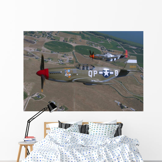 P-51c Mustang and P-51d Wall Decal