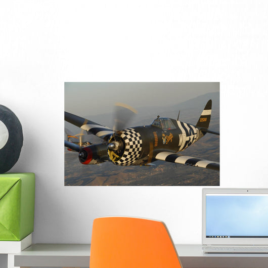 P-47 Thunderbolt Flying over Wall Decal