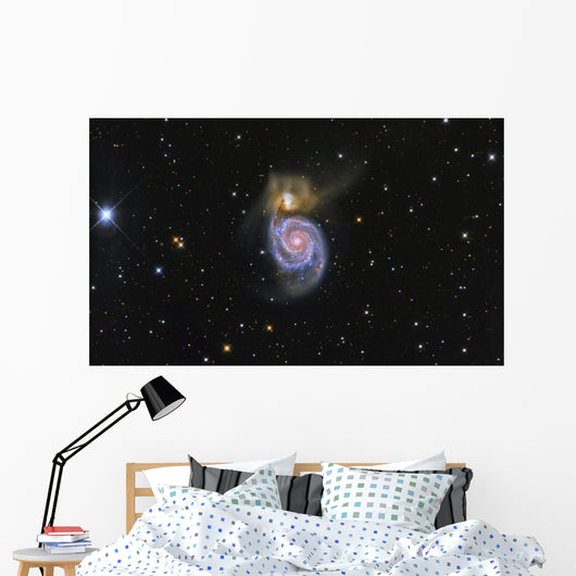 Whirlpool Galaxy and Its Wall Decal