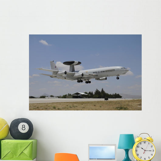 Boeing E-3a Awacs NATO In-Flight Wall Decal