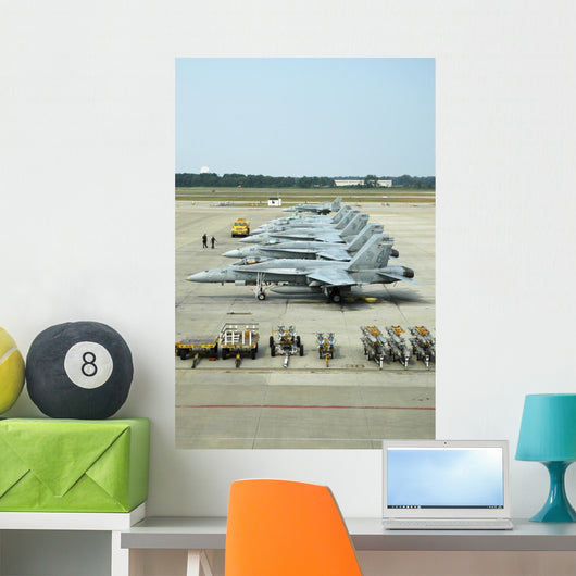 Line-up F A-18 Hornets Wall Decal
