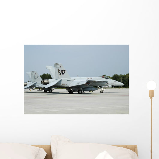 Us Navy F A-18c Grounded Wall Decal