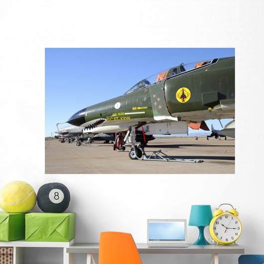 Us Air Force Qf-4 Line-up Wall Decal