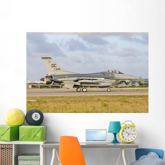 Us Air Force F-16c Right Grounded Wall Decal