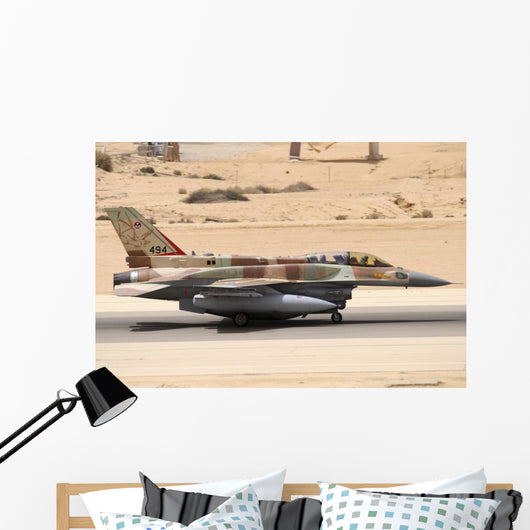 Israeli Air Force F-16i Grounded Wall Decal
